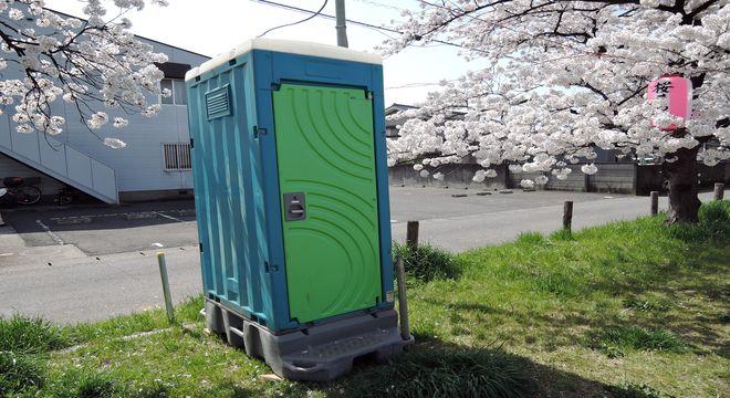 仮設トイレ(外観)