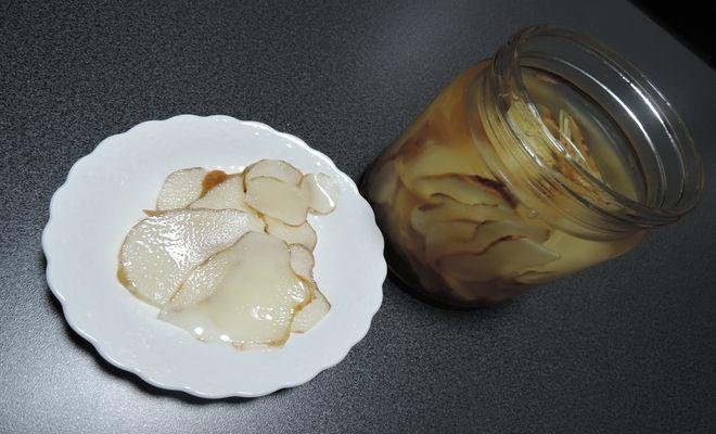 漬けた二日後の菊芋酢漬け