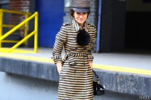 Miroslava Duma in a Eugenia Kim hat & Burberry coat, Photographed by Phil Oh