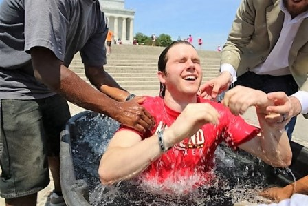 """Cole is baptized and is """"free at last!"""""""