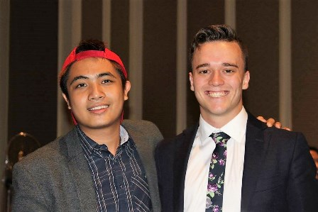 Sean - the Campus Minister for Macquarie University in Sydney - hangs out with Ryan - the new Campus Intern for RTU!