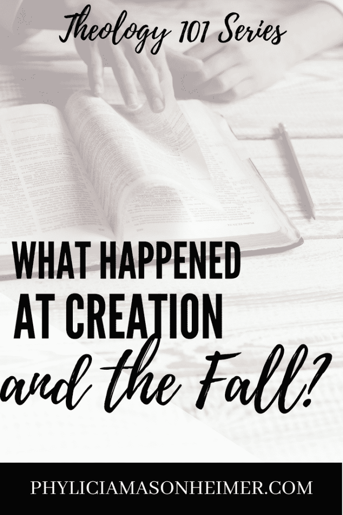 Theology 101 series - Creation and the Fall, Genesis 1-3