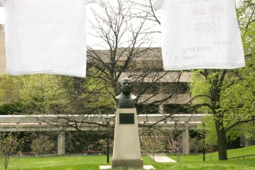 The Herbert H. Lehman bust is a reminder to the college community that speaking out for the victims of oppression is everyone's duty.