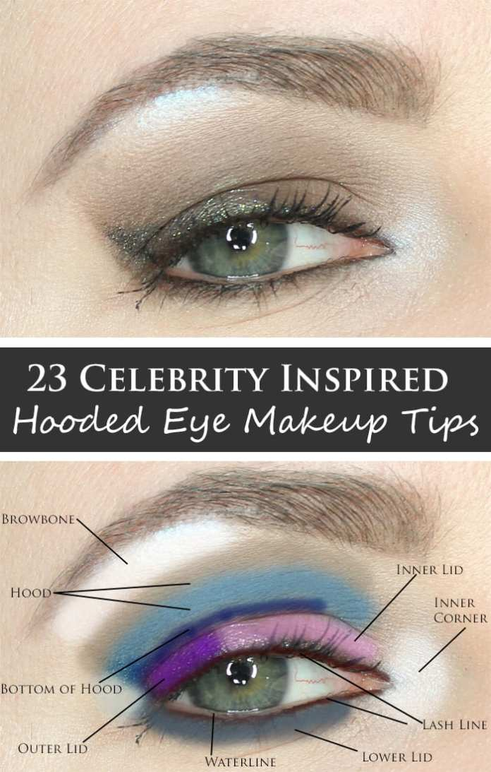 Celebrity Inspired Hooded Eye Makeup Tips