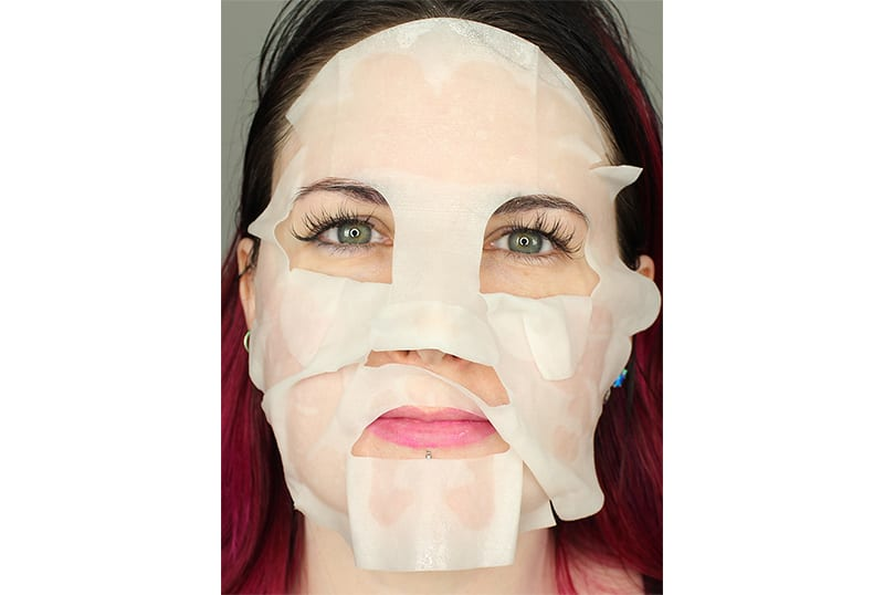 Pop a shower mask on your face before you get into the shower. It keeps the steam and hot water from drying out your face and you get glowy, gorgeous skin while your get clean.