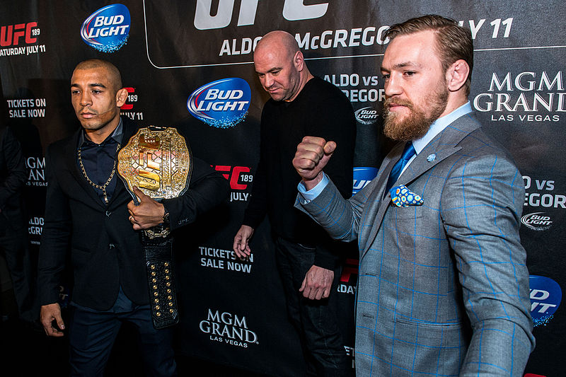 José_Aldo_vs._Conor_McGregor,_UFC_189_World_Tour_London