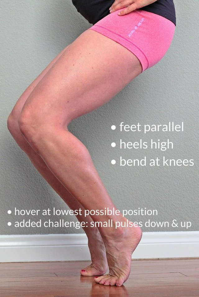 This barre move is simple but so effective. Better than squats or plyometric jumps, this simple move will completely transform your legs. Do it anywhere, any time.