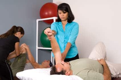 Physical Therapist At Work