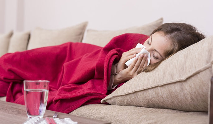 Women Suffering from Flu