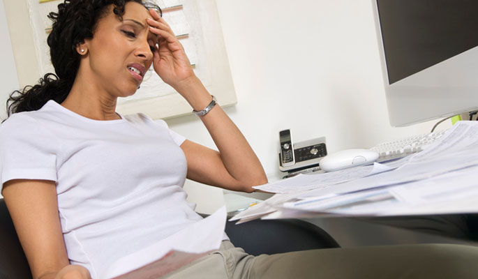 Womens Suffering from chronic migraine pain