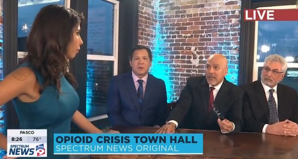Screen shot of Opioid Town Hall
