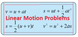 Solve motion in one dimension problems