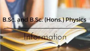 B.Sc. physics