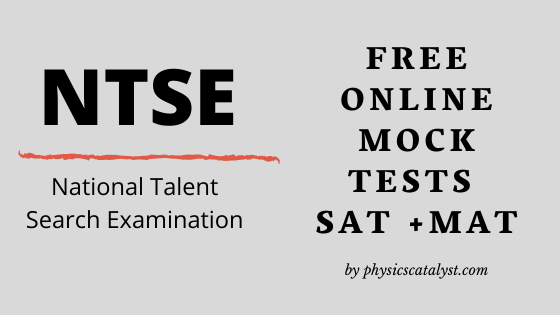 NTSE online tests