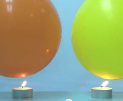 heat capacity demonstration with balloons and water