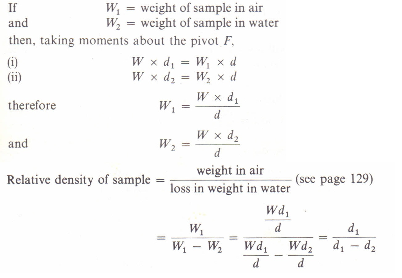 To Measure The Relative Density Of Solids And Liquids By A