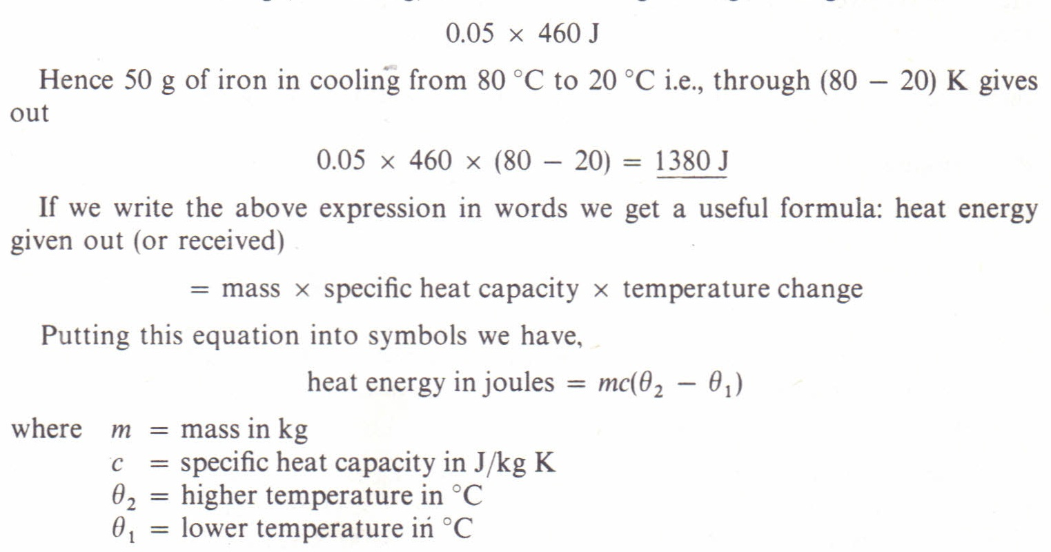 What Is The Equation For Finding Heat Energy From