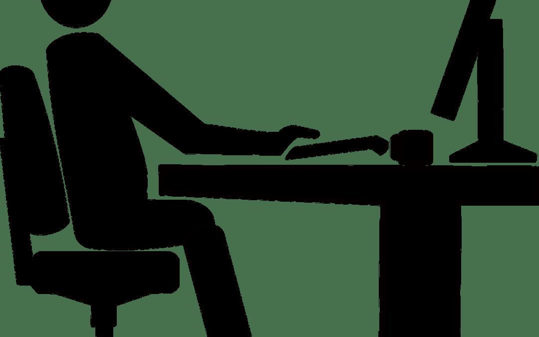Η σωστή θέση του υπολογιστή στην εργασία