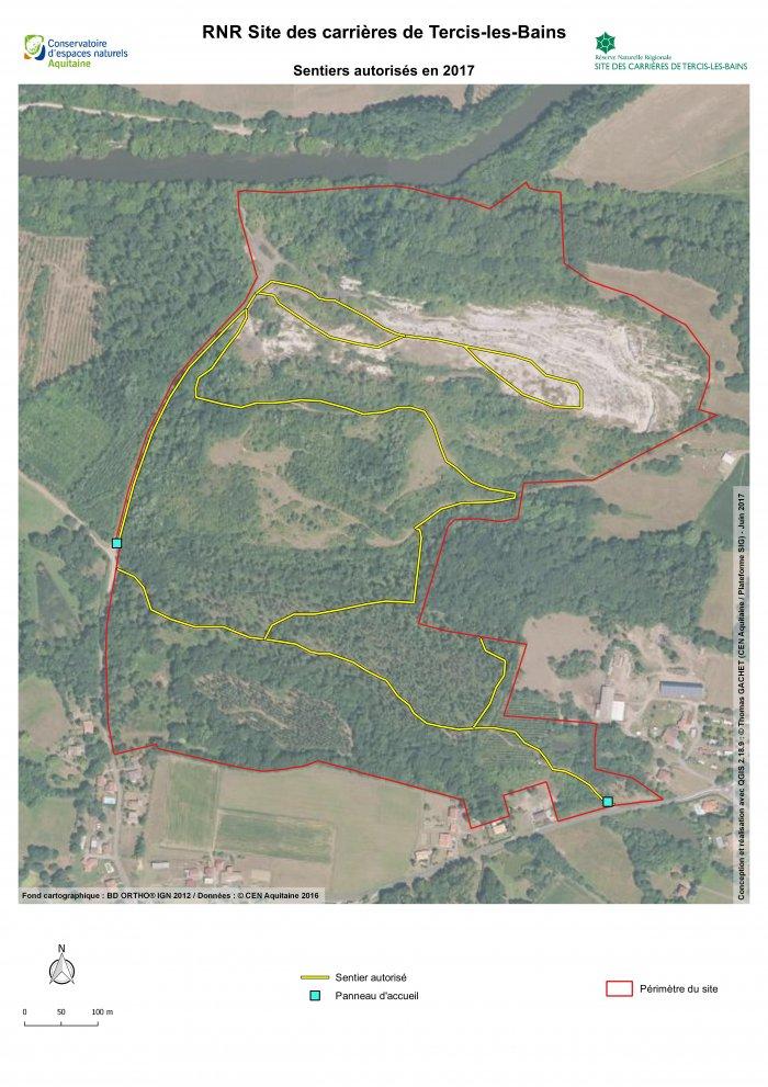 plan réserve géologique tercis les bains