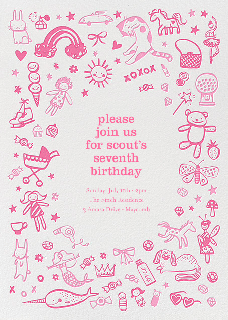 unicorn invitations send online