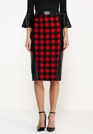 Юбка RUPA PU CHECK MIX SKIRT
