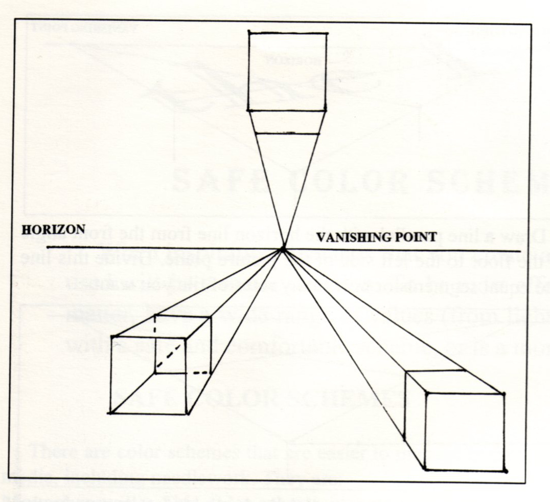 Block One Point Perspective Worksheet