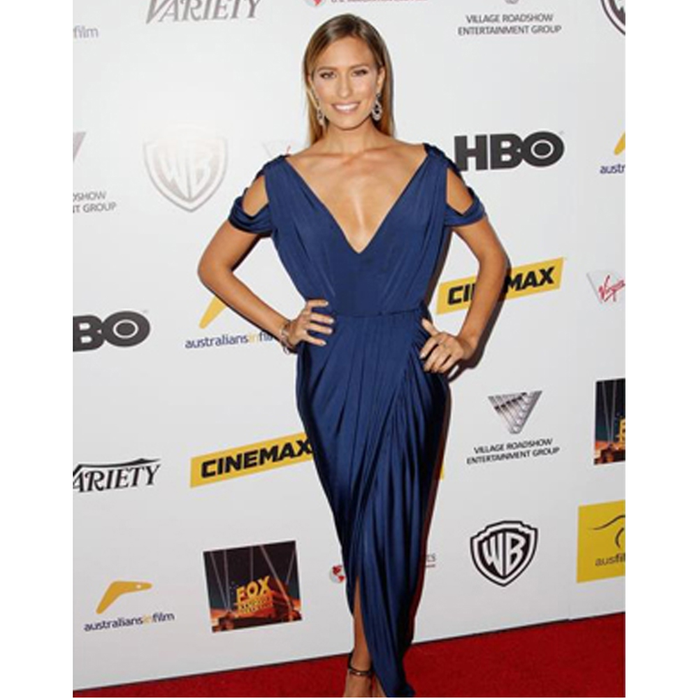 Renee Bargh in our dionne dress for the australian film awards