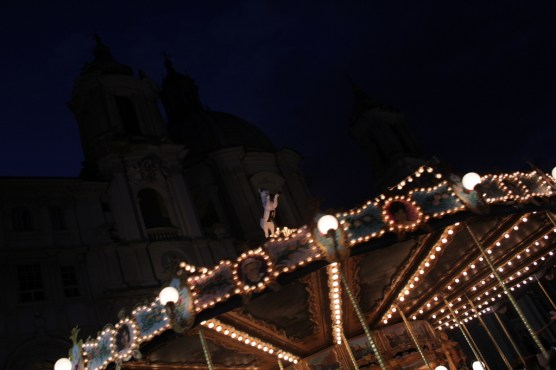 The only thing I like about the Christmas market on Piazza Navona - the merry-go-round