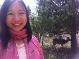 selfie with deer