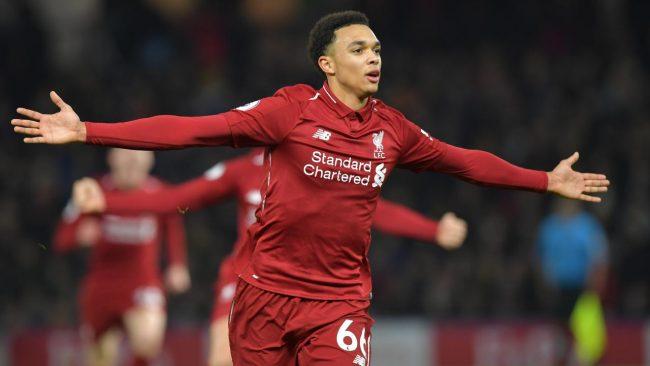 Bek sayap asal Liverpool, Trent Alexander-Arnold sudah memulai debutnya dalam Liga Inggris sejak Desember 2016