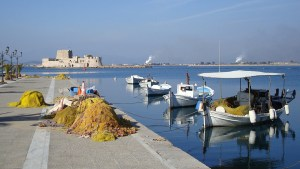 fishing boats in Nauplia, Greece