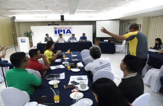 Heads of sports associations, sports coordinators and members of the local media participate in the Kapihan