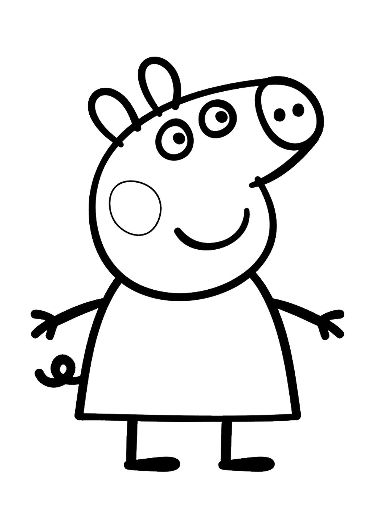 Pin Di Un Max D Idees Su Coloriages Peppa Pig Nel