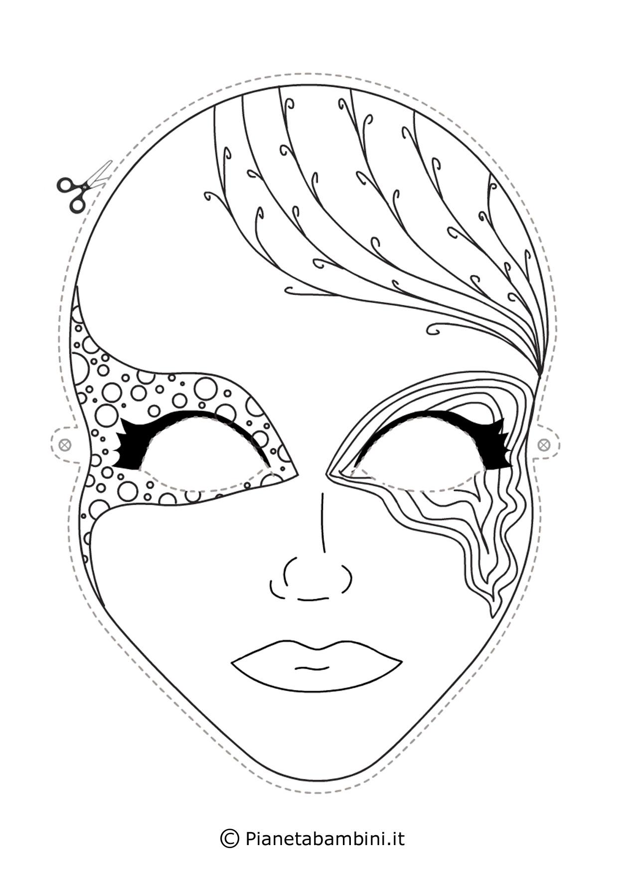 Eccezionale Disegni Di Maschere Di Carnevale Winx Da