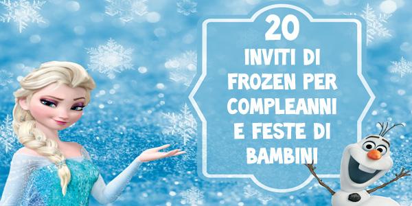 20 Biglietti Di Inviti Per Compleanno Di Frozen Da Stampare