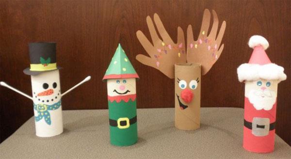 40 Idee Per Lavoretti Di Natale Con Rotoli Di Carta Igienica