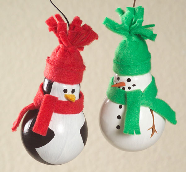Recycled Light Bulb Christmas Ornaments