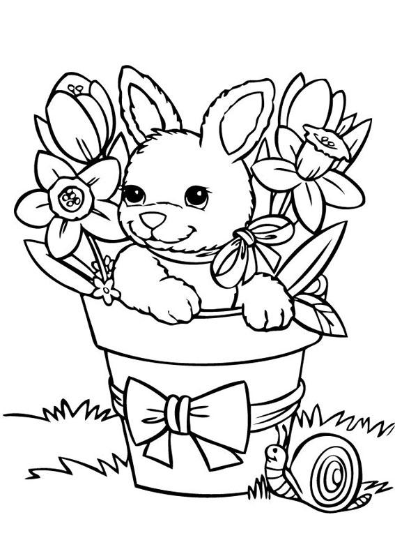 45 Disegni Di Conigli Da Colorare PianetaBambiniit