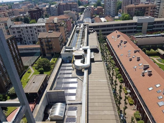 Nuova installazione impianto da 40 kWp su copertura Hotel Radisson Blu Milano