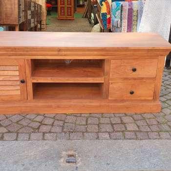 porta tv in legno grezzo
