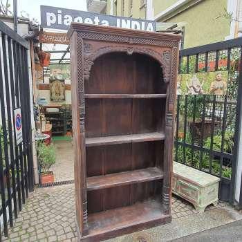 Libreria indiana in legno massello