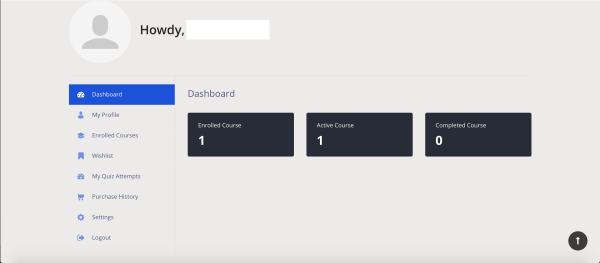 Preview of the Dashboard