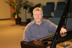 Picture of John Douglas at the piano
