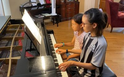 Naomi 9 and Kylie 11 playing In The Meadows Op. 99 No. 1