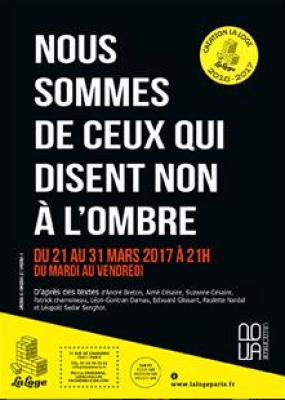 Nous sommes de ceux qui disent non à l'ombre, La Loge, Margaux Eskenazi, Alice Carré, Pianopanier