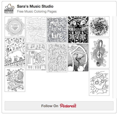 Saras Pinterest Music Coloring Pages Board