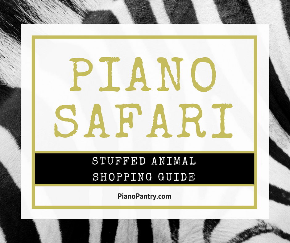 Piano Safari Stuffed Animal Shopping Guide