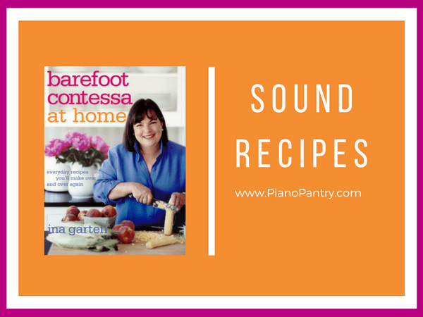 sound recipes barefoot contessa at home | piano pantry