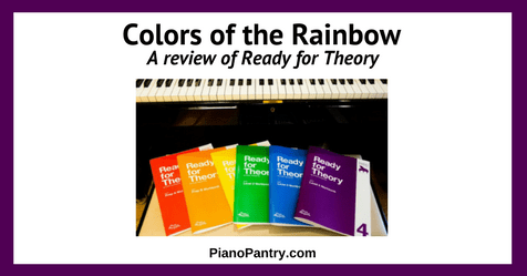 Colors of the Rainbow A review of Ready for Theory (and coupon code!)