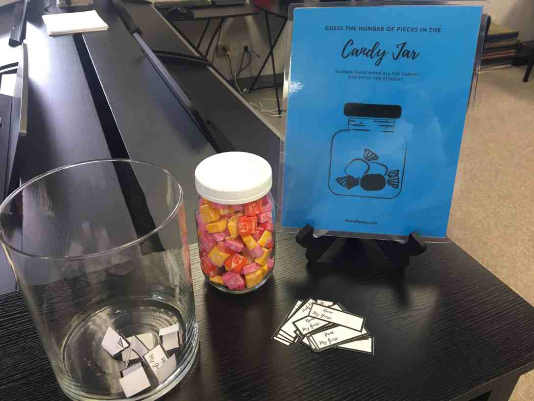 Candy Jar Contest Printable Piano Pantry